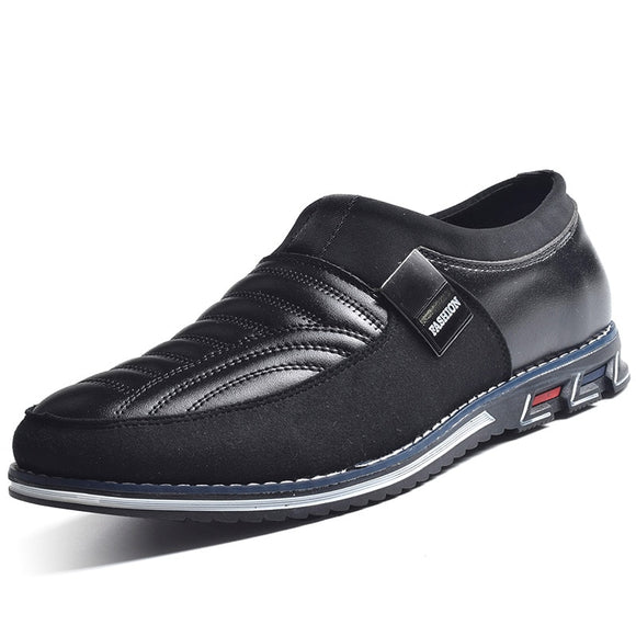 Men's Shoes - New 2019 Slip On Men Casual Leather Shoes