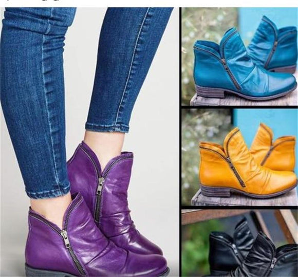 [Hot Sale] New Women's Retro Ankle Boots