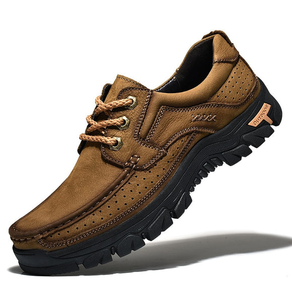 Men's Shoes - Newest 2019 High Quality Cowhide Outdoor Men Casual Shoes
