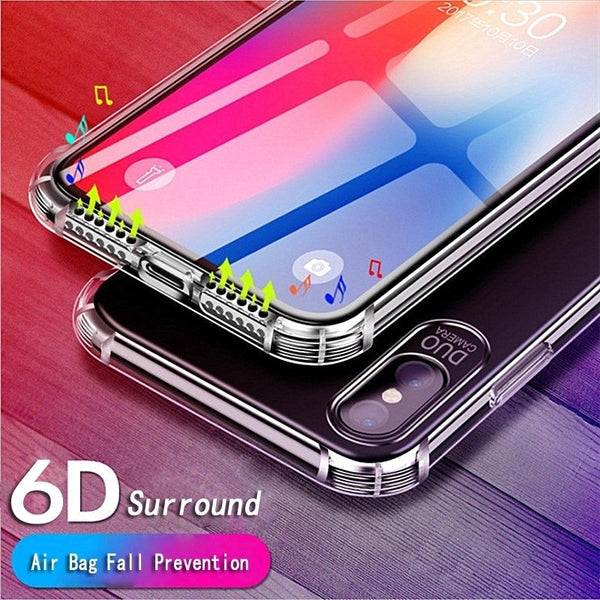 6D Clear TPU Silicone Cases For Samsung Glaaxy S8 S9 + Note 8 9
