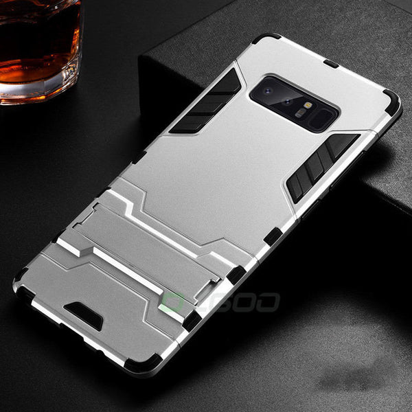Phone Case - Luxury Double Protection PC & Silicone Shockproof Phone Case For Samsung Galaxy S9/S8 Plus Note 8