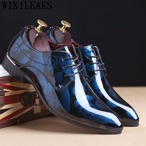 Pointed Toe Mens Formal Shoes Pu Leather Party Flat Dress Shoes(Buy 2 Get 10% Off, 3 Get 20% Off)