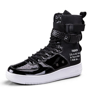 Shoes - Men Breathable Sport Shoes High Top Trainers Shoes