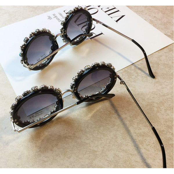 Luxury Oversized Round Bling Sunglasses