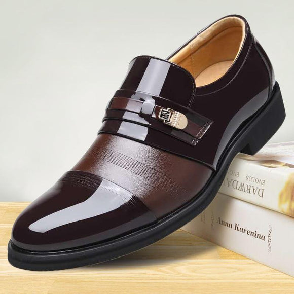 Leather Mens Office Business Flat Loafers
