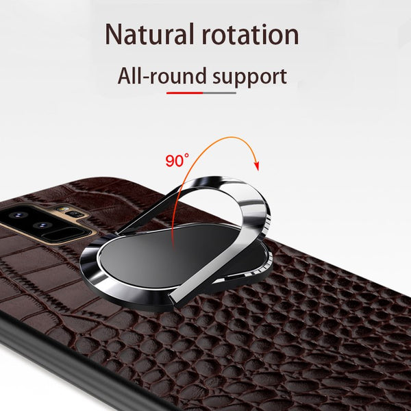 Full Cover Protective Shockproof Magnetic Suction Ring Bracket Case for Samsung Galaxy Note 9 8 S8 S9 Plus