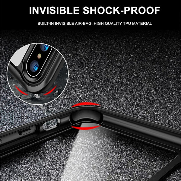 Phone Case - Luxury Full Protection Hybrid Clear Arcylic & Soft TPU Shockproof Phone Case For iPhone XS/XR/XS Max 8/7 Plus
