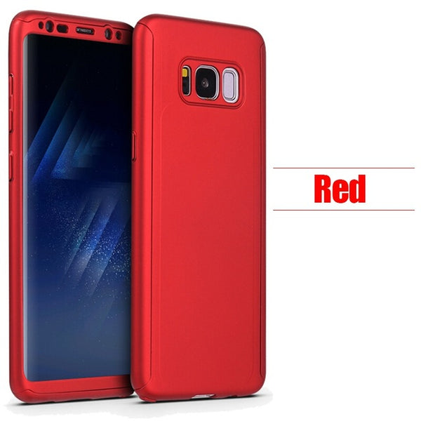 Phone Case - Luxury 360 Degree Full Cover Protective Case With Screen Protector For Samsung Galaxy S9/S8 Plus Note 8
