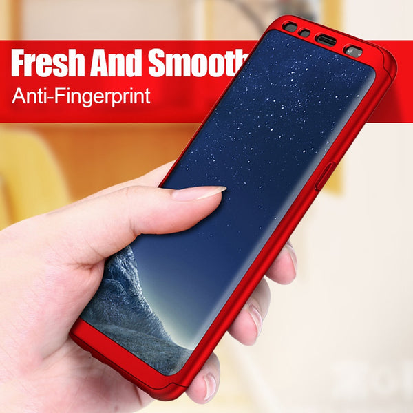 Phone Case - Luxury 360 Degree Full Cover Shockproof Case With Screen Protector For Samsung Galaxy S9/S8 Plus Note 8