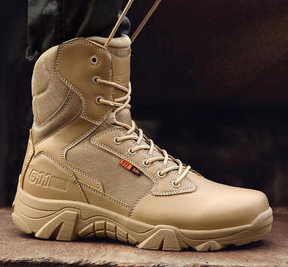 Plus Size Military Boots Men Tactical Leather Combat Boots