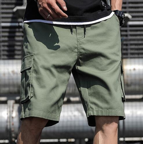 Kaaum Plus Size Summer Cargo Shorts