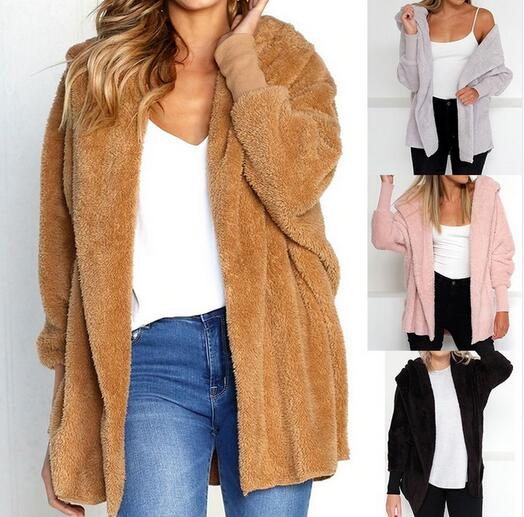 Women's Clothing - 2018 Women's Autumn Winter Casual Loose Fur Cardigans