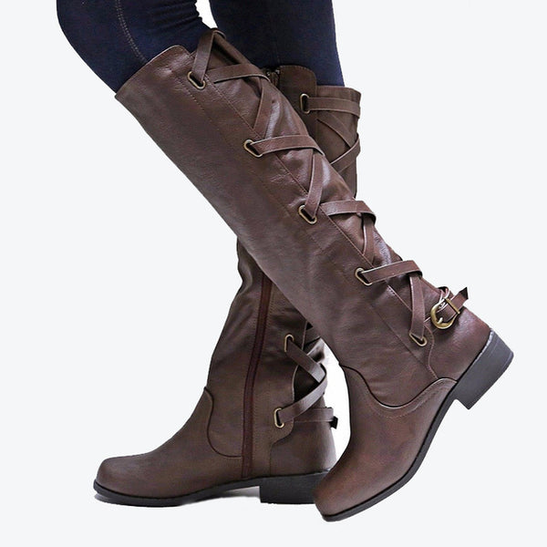 Autumn Women Belts Martin Riding Boots