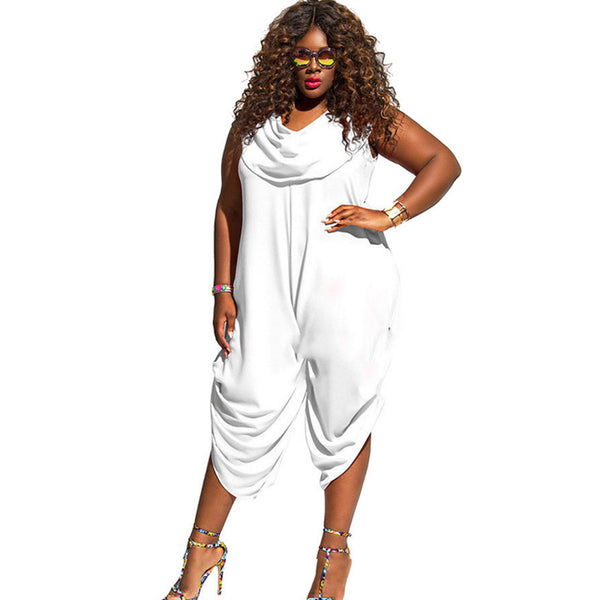 Women's Clothing - Sexy Women Harem Pants Plus Size Loose Casual Jumpsuit