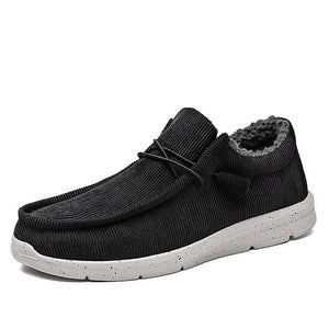Plush Winter Warm Mens Walking Shoes