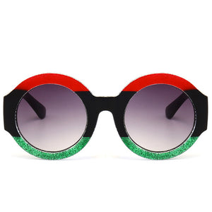 Sunglasses -  New Three Colors Patchwork Luxury Round Sunglasses