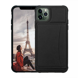 Kaaum Kickstand Durable Leather Shockproof Cover for iPhone