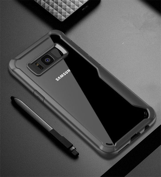 Phone Accessories - Acrylic+TPU shockproof Transparent Case For Samsung S7 Edge S8 S9 Plus Note 9 Note 8