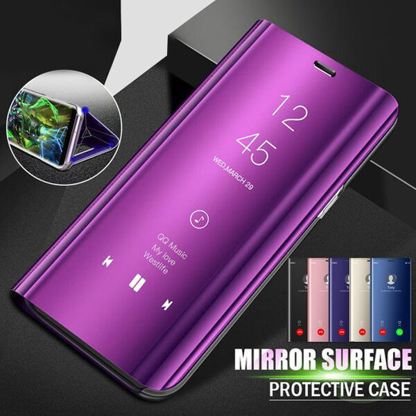 Phone Case - Luxury Clear View Mirror Smart Flip Cover For iPhone X 8 7 6S 6/Plus