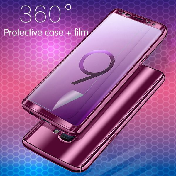 Phone Case - Fashion Bling Mirror 360 Full Protection Cover For Samsung S9 S9+ Note 8 S8 S8+ S7 S7Edge With Free Screen Protector