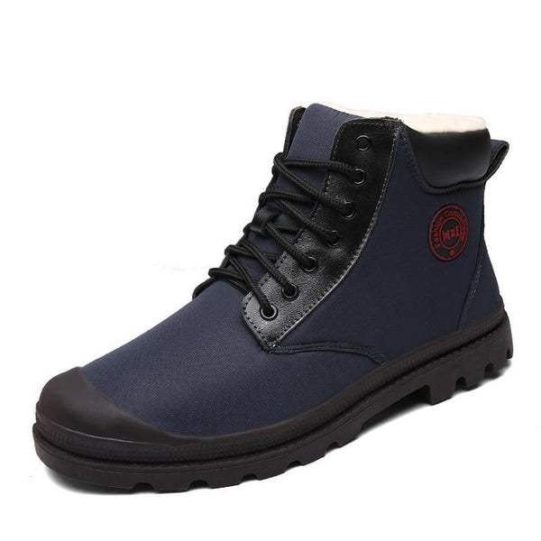 Men's Shoes - Top Quality Genuine Leather Casual Snow Warm Boots