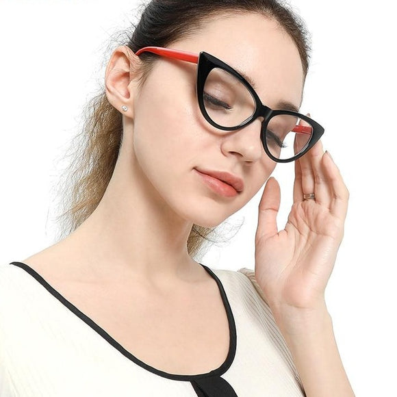 Kaaum Cat Eye Glasses Full Frame Reading Eyeglasses