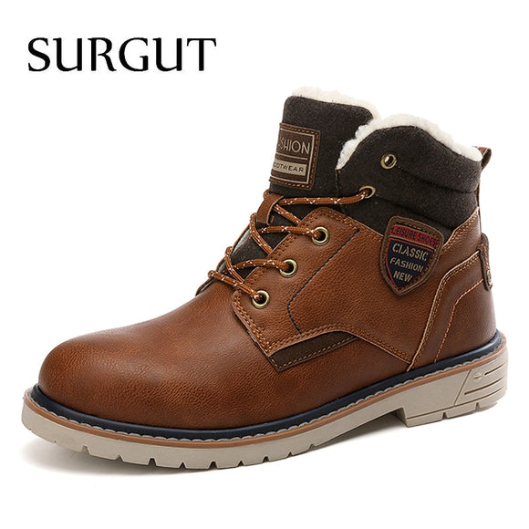 New Winter Autumn Leather Waterproof Boots