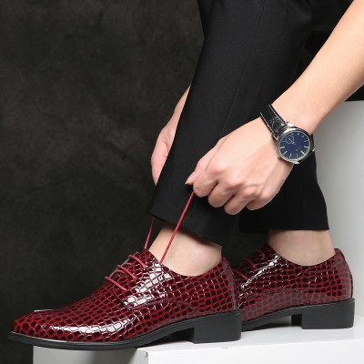 2019 Plus Size New Fashion Men Leather Shoes