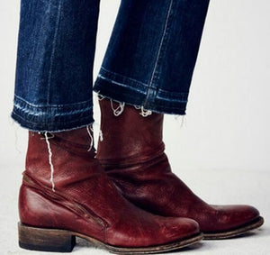 Boot - Vintage Leather Women Ankle Boots