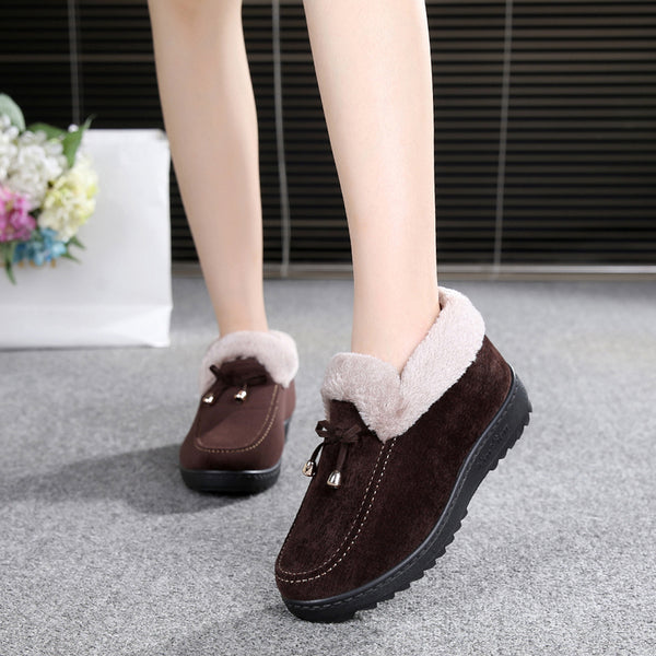 Women's Shoes -  Top Quality Slip On Warm Winter Flats Shoes