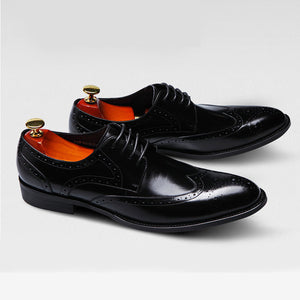 2019 Top Quality Men Genuine Leather Dress Shoes