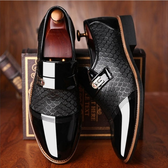 Men's Leather Shoes Flat Business Oxfords Shoes (Buy 2 Get 5% OFF, 3 Get 10% OFF)