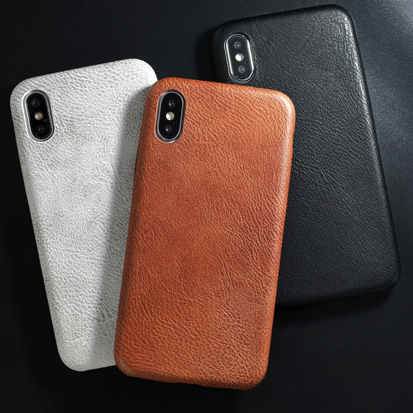 Phone Case - Luxury PU Leather Crocodile Skin Patteren Phone Case For iPhone XS/XR/XS Max 8/7 Plus