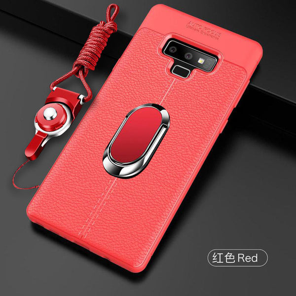 2019 Leather Case With Magnetic Holder + Free Strap For iphone