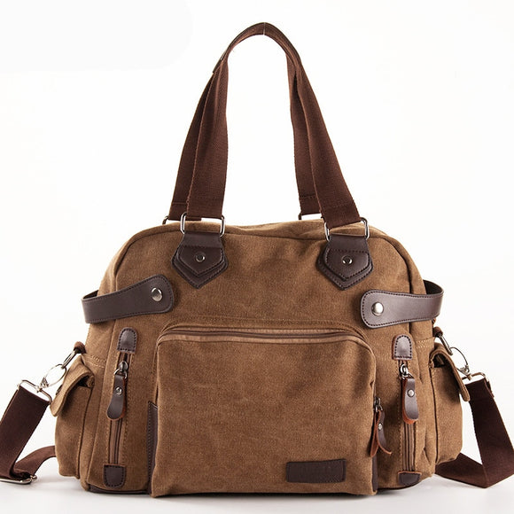 Bag - Men's Vintage Multifunction Canvas Crossbody Bag