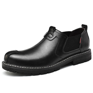 Split Leather Leisure Mens Autumn Chelsea Boots