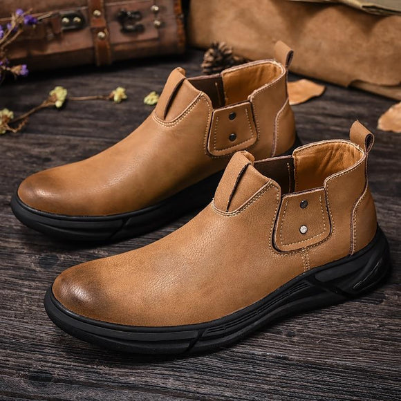 Split Leather Mens Chelsea Boots