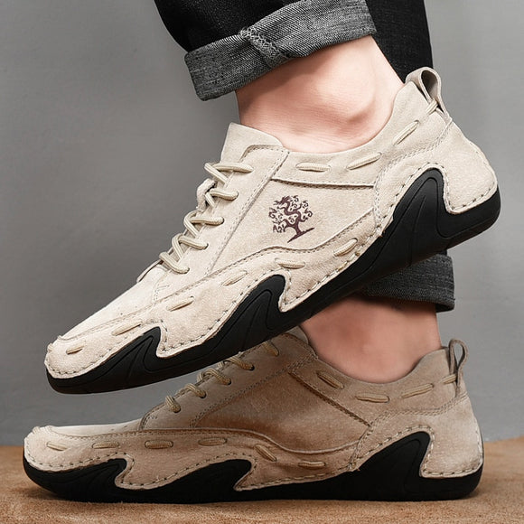 Leather Men Casual Outdoor Waterproof Sneakers