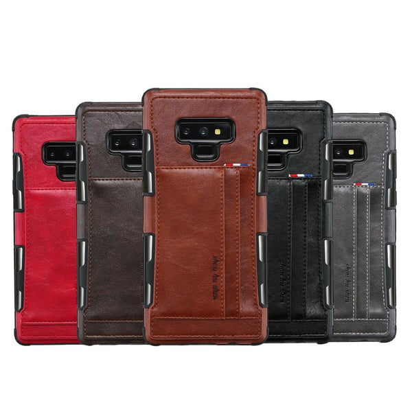Leather Retro Style Case For Samsung Galaxy S8 S9+ Note 8 Note 9