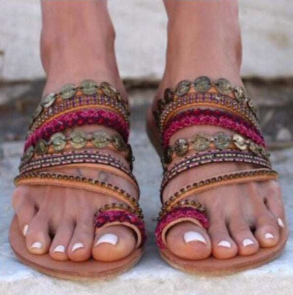 Women's Shoes - Summer Fashion Roman Style Women Handmade Flat Sandals