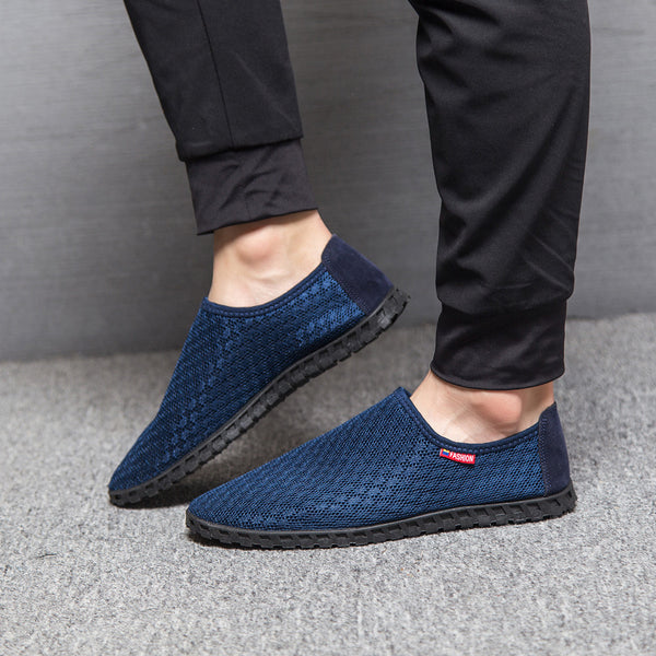 Men's Casual Shoes - Men Hollow Out Breathable Mesh Loafers