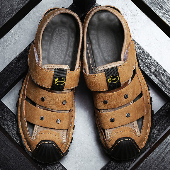 2020 Leisure High Quality Genuine Leather Sandals For Men