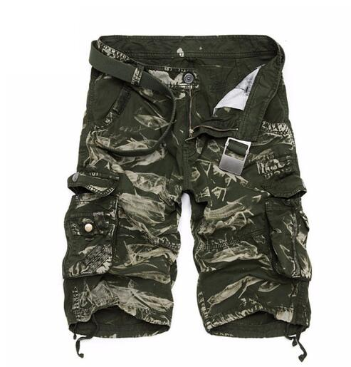 Kaaum Summer Men's Military Camo Cargo Shorts