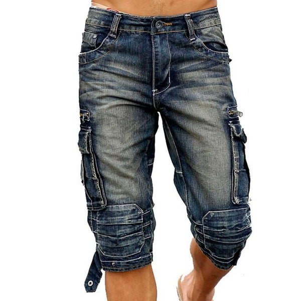 Clothing - 2017 NEW Men Cargo Shorts Bermuda Washed Denim Short