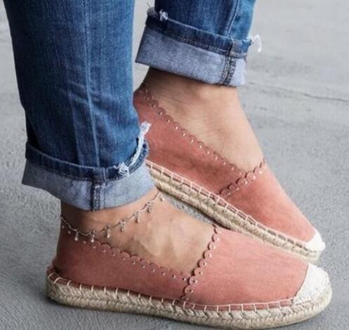 Women Shoes - Casual One-legged Straw Vine Fisherman Shoes