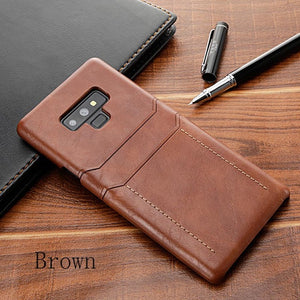 Phone Accessories - Retro PU Leather Case For Samsung Galaxy