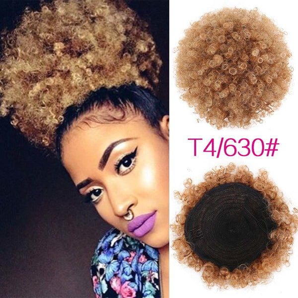 Hair Extensions Fashion Afro Short Curly Hair Ponytail Hair