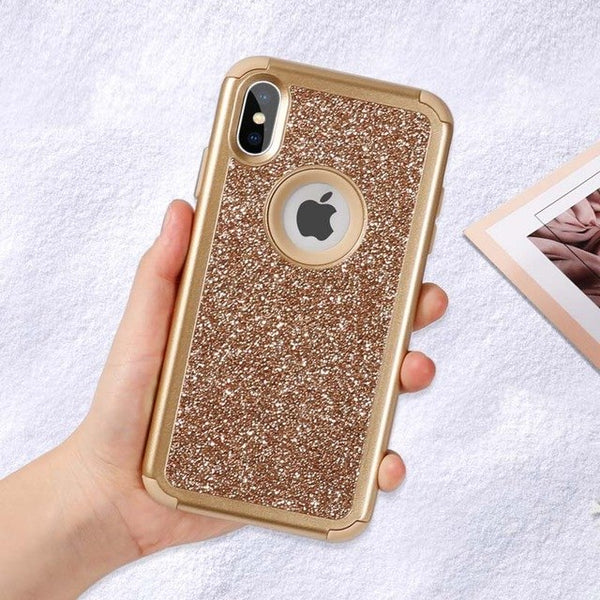 Phone Case - Luxury Bling Glitter Soft Silicone Shockproof Armor Phone Case For iPhone X/XS/XR/XS Max