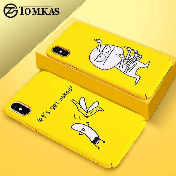 the best attitude afaf3 7b026 Yellow Cover Funny Banana Cute Cases for iPhone