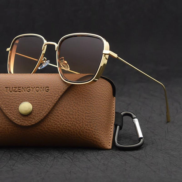 Kaaum Vintage Steampunk Square Metal Frame UV400 Eyewear(Buy 2 Get 10% OFF, Buy3 Get 15% OFF)